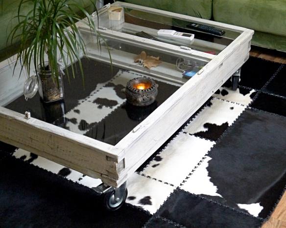 Kohud matta svart/vit